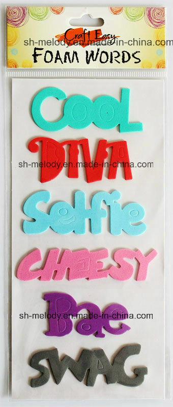 Multicolor Foam Words Stickers for Scrapbooking / Handmade Crafts