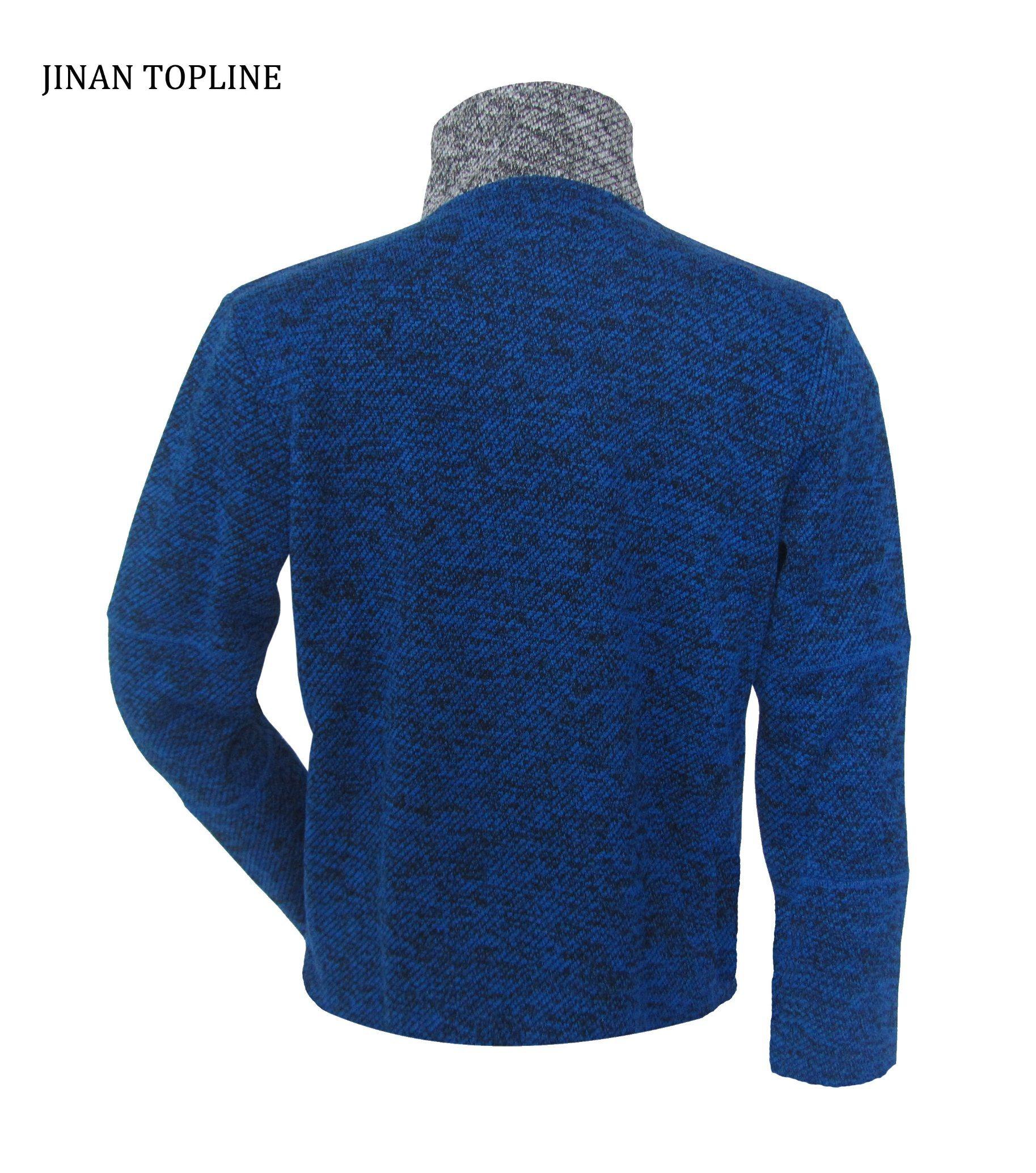 Men Knitted Polar Fleece Casual Jacket for Sports Wear