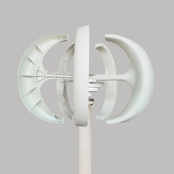 Renewable Energy 200W 12V 24V Vawt Vertical Axis Wind Turbine Generator for Sale