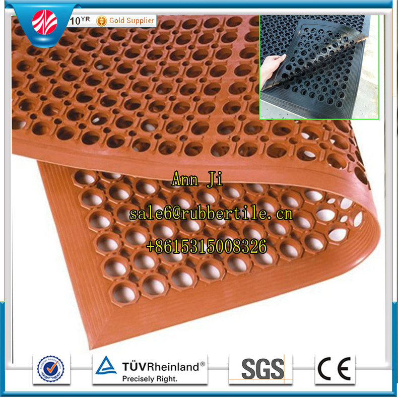 3′*5′*1/2′′anti-Fatigue Rubber Cushion Flooring Oil-Resistant Safety Kitchen Mat