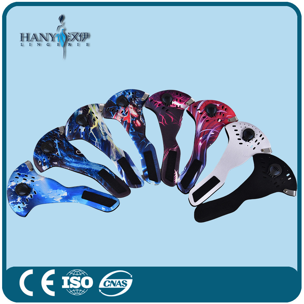 Manufactory Neoprene Cycling Face Mask with Filter in Various Colours