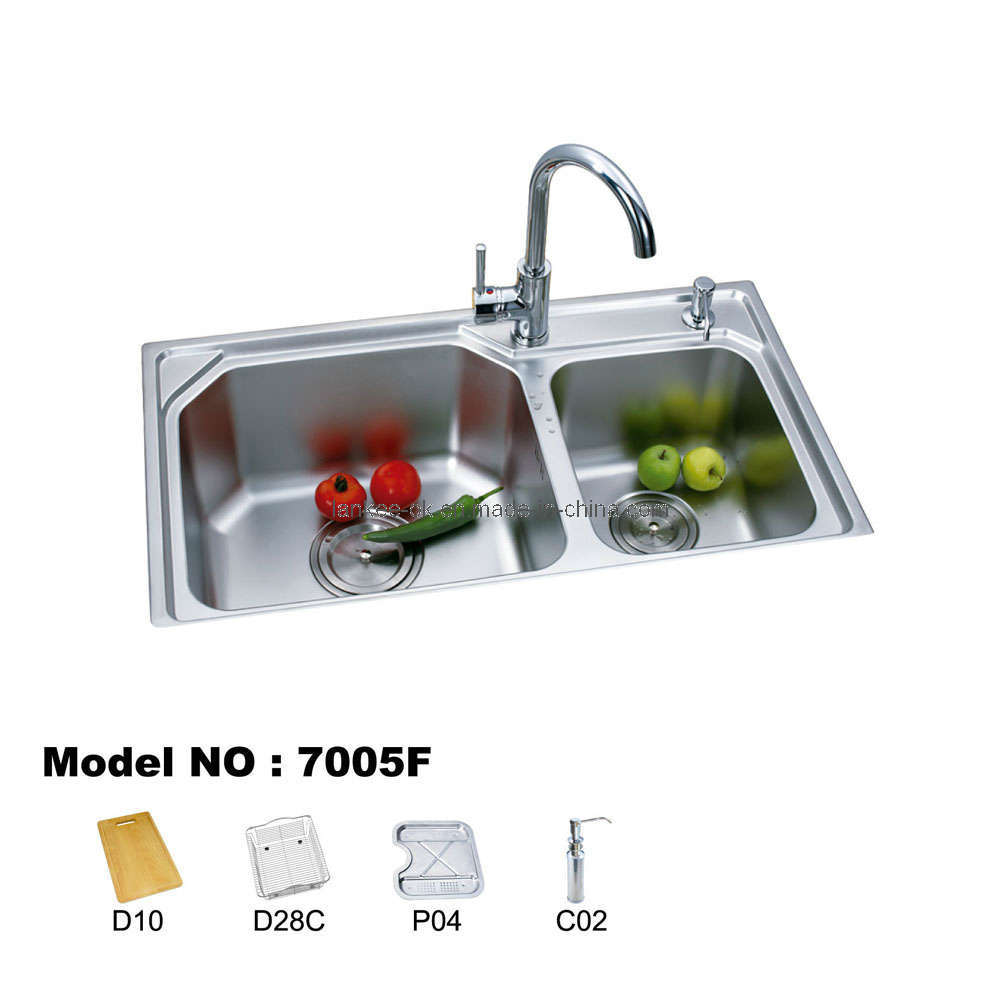 Double Bowl Kitchen Sink : ... Double Bowl Kitchen Sinks (7005) - China Sink, Stainless Steel Sink