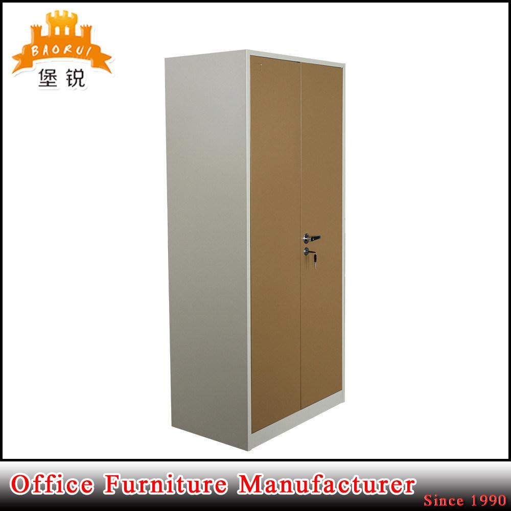 Metal Double Door Bedroom Iron Inside Drawer Steel Clothing Closet Wardrobe