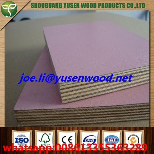 Furniture Grade Hardwood Core Wood Grain 18mm Melamine Faced Plywood