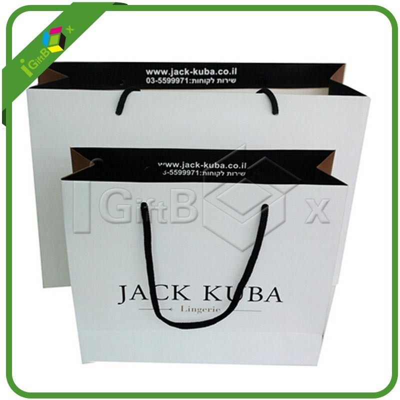 Luxury Custom Printed Kraft Paper Shopping Packaging Carrier Gift Paper Bags for Packing with Handles