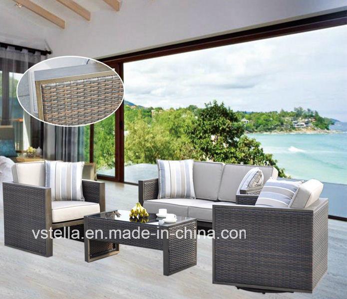 Garden Rattan Wicker Sectional Outdoor Sofa Set