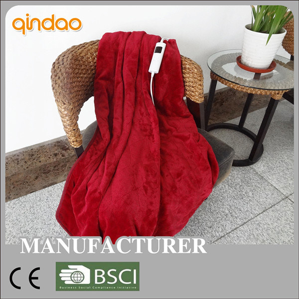 Full Size Qualified Flannel Heated Electric Throw Blanket