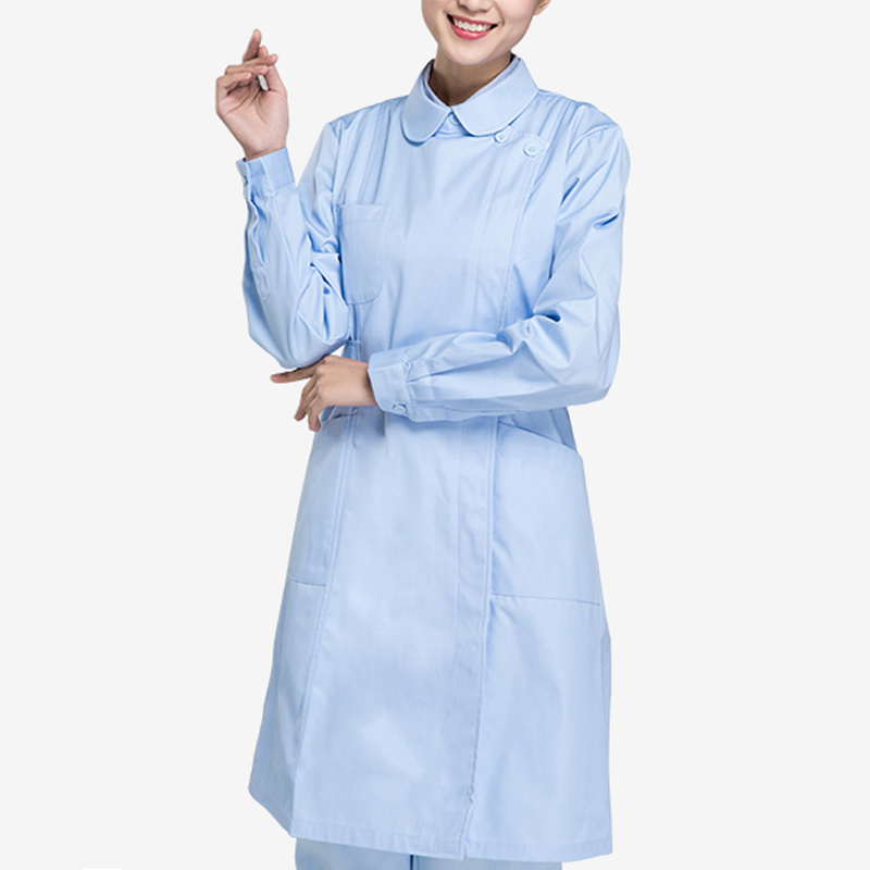 China Wholesale Hospital Long Sleeve White Nurse Uniform
