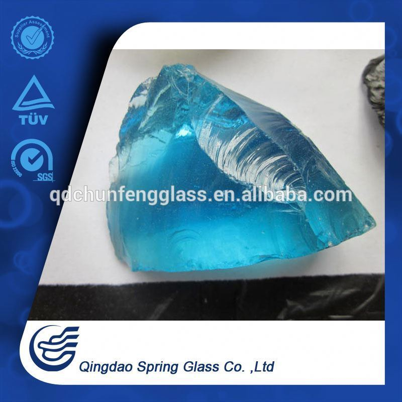 Blue Glass Stone for Landscaping