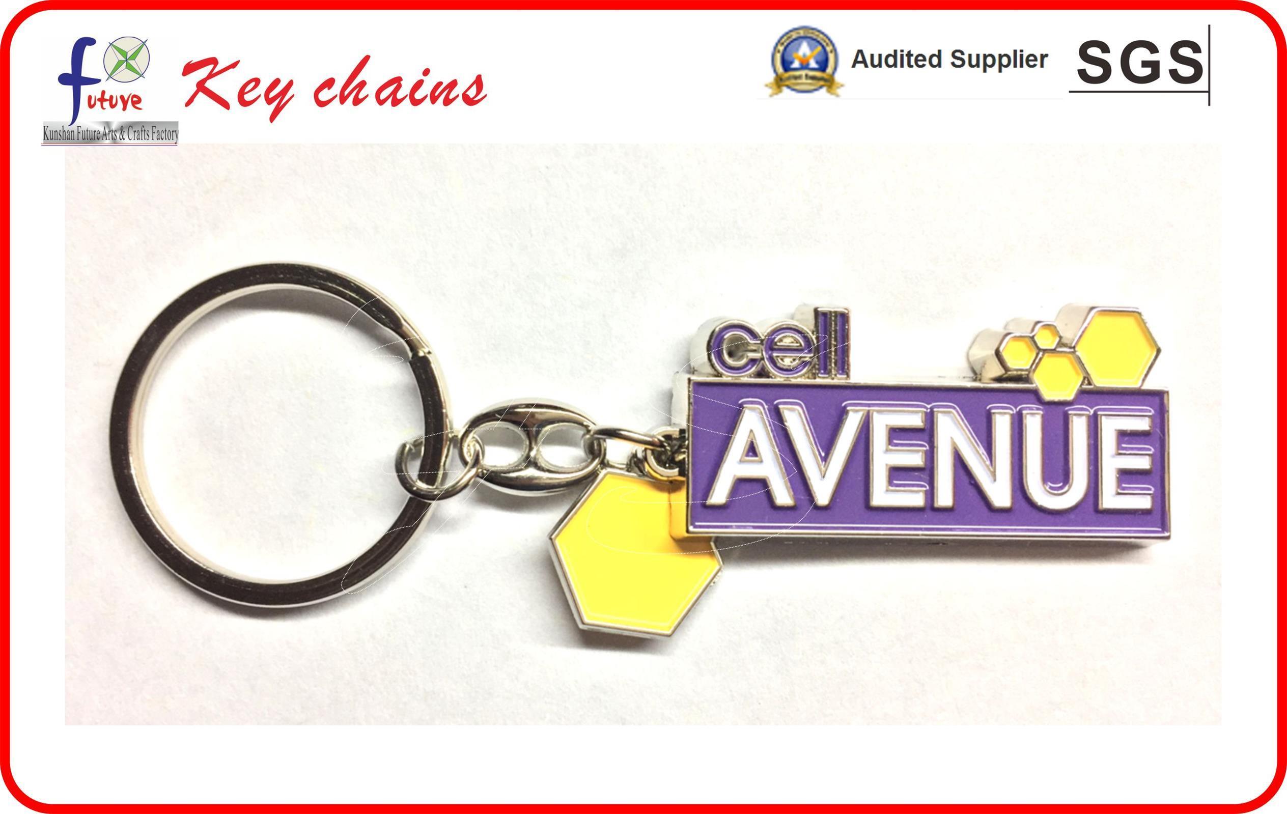 Soft Enamel Sliver Palted Keyrings Keychains