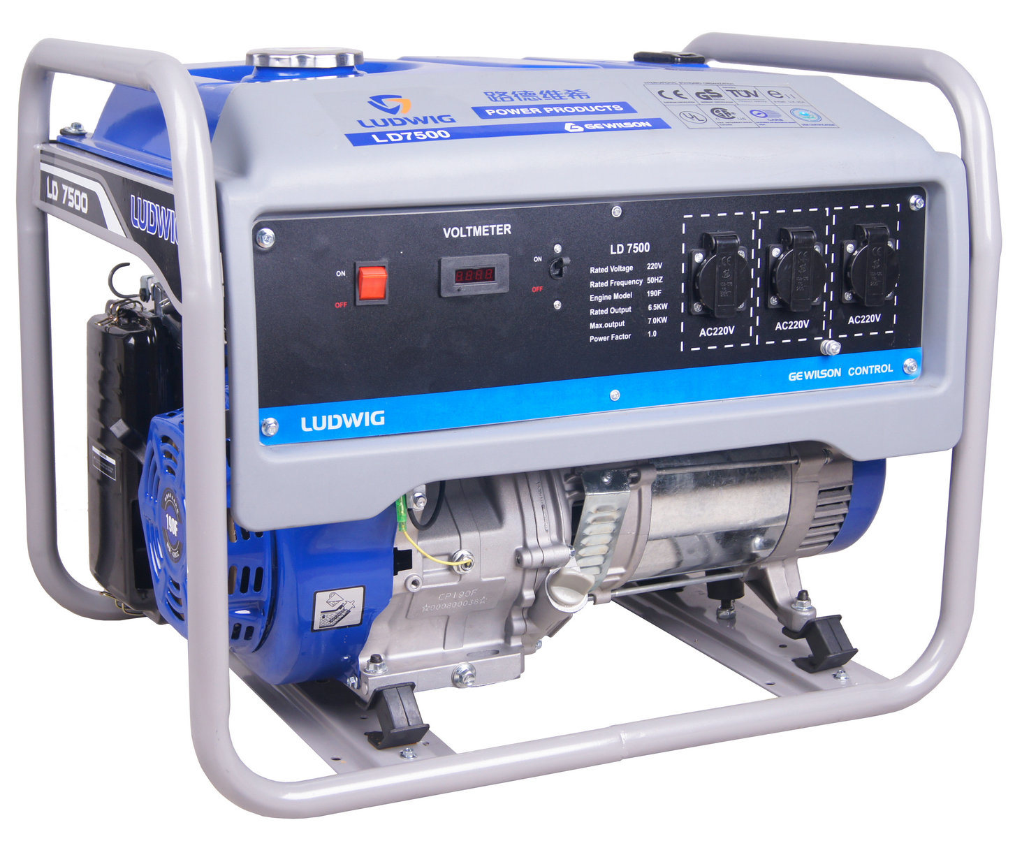 CE, EPA Approved Silent, Digital 1kw-20kw Gasoline Generator