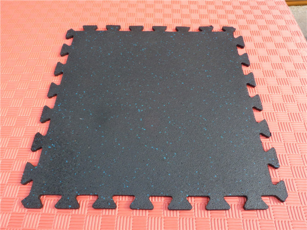 Interlocking Recycle Rubber Tiles Colorful Rubber Paver Gym Floors
