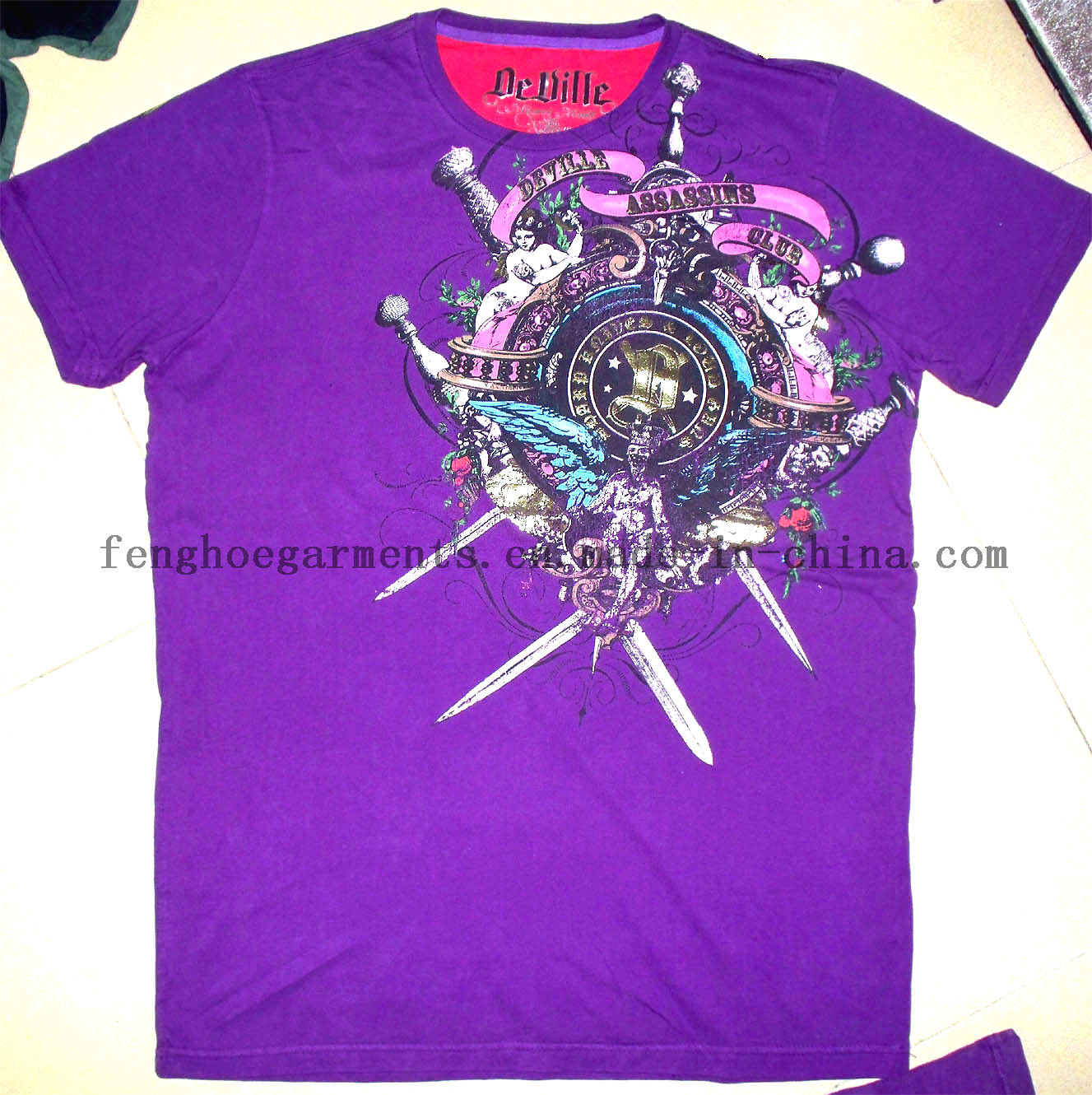 China t shirt printed t shirt discharge printing t T shirt printing china