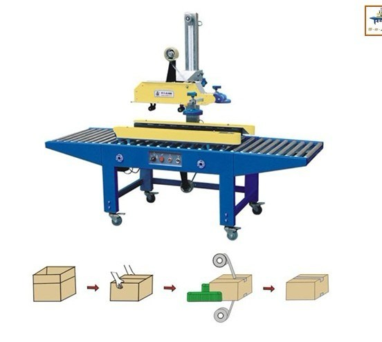 Left-Right Animate Adhesive Tape Carton Sealer