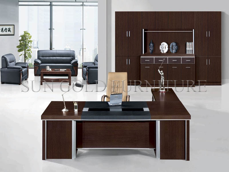 Modern Black Executive Desk Office Furniture (SZ-OD011)