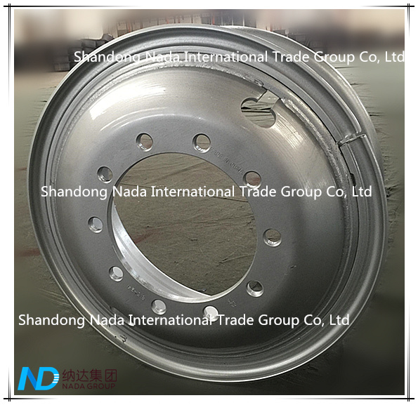 8.50-24 Tube Rim TBR Truck Steel Wheel with TS16949/ISO9001: 2000