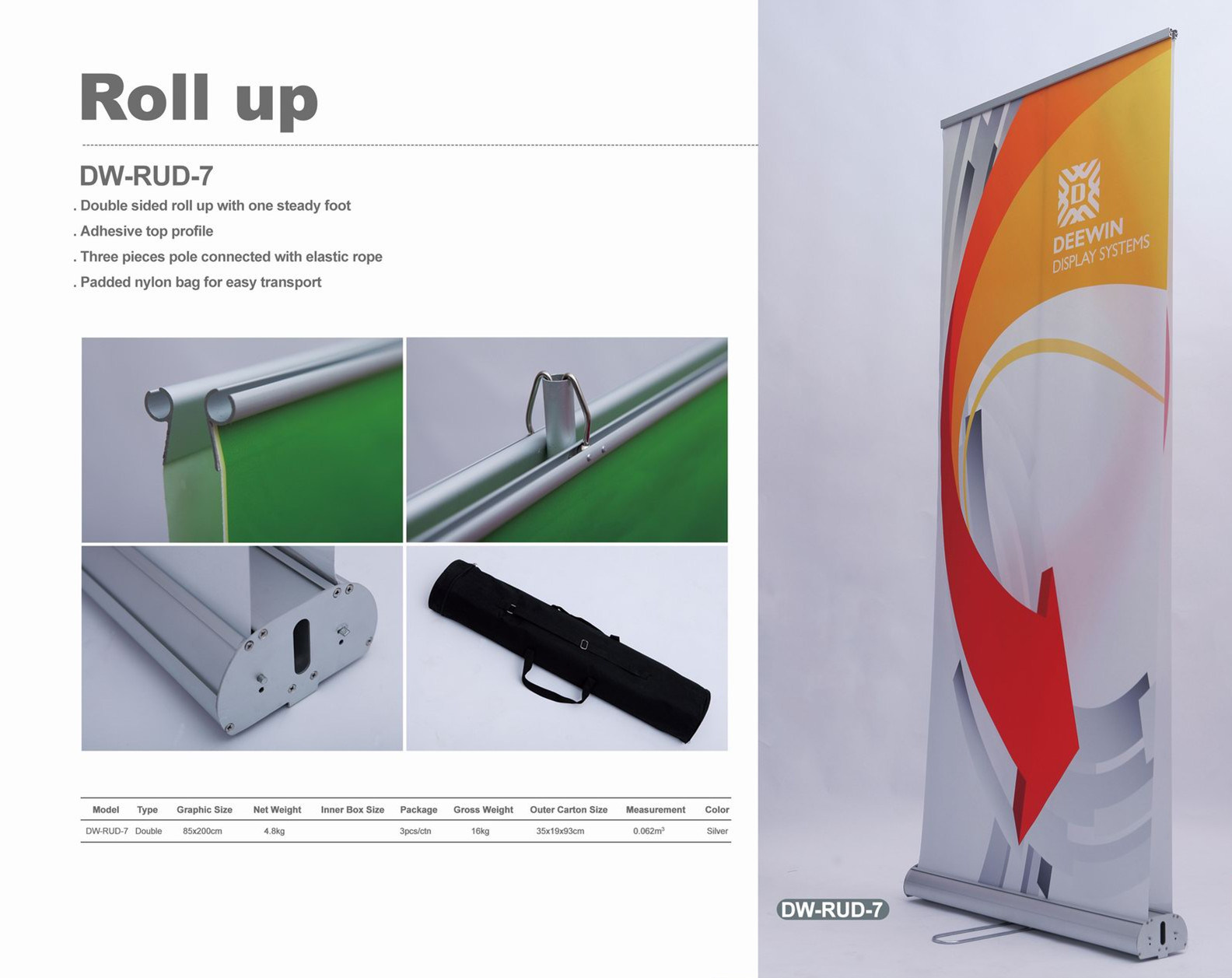 China roll up banner stand dw rud 7 china roll up for Stand roll up