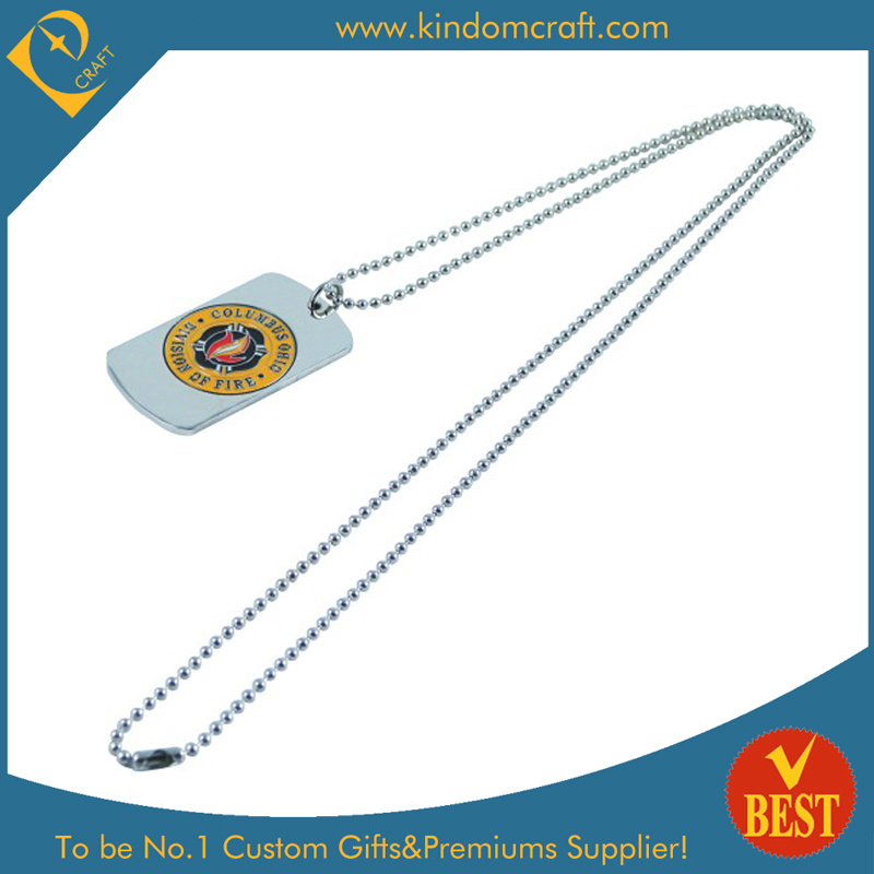 Custom Stainless Steel with Enamel Infilled Dog Tag (LN-0168)