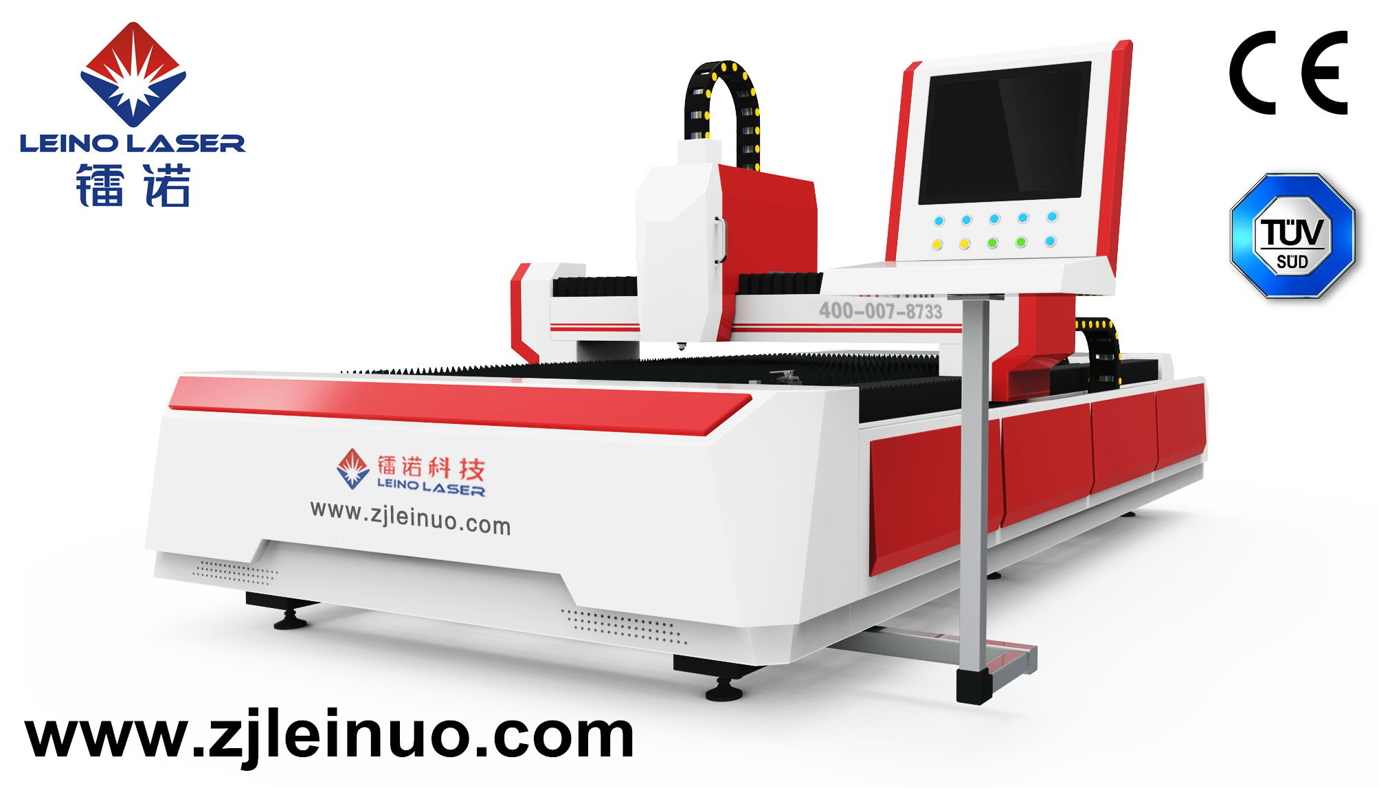 500W CNC Open-Type Fiber Laser Cutting Machine for Metal