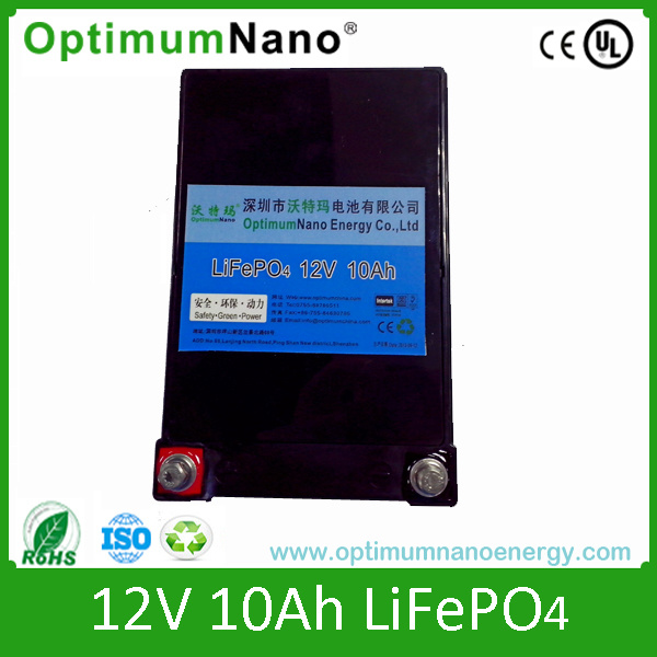 12V10ah LiFePO4 Battery for E-Bikes