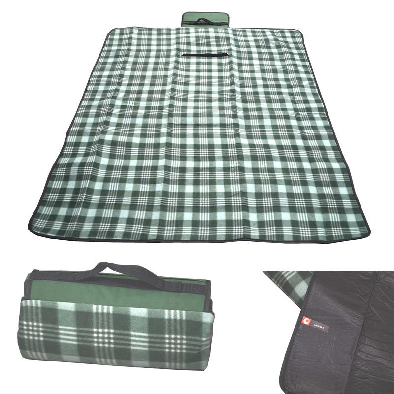 Custom Waterproof Folding Picnic Fleece Rug Mat Carpet Blanket