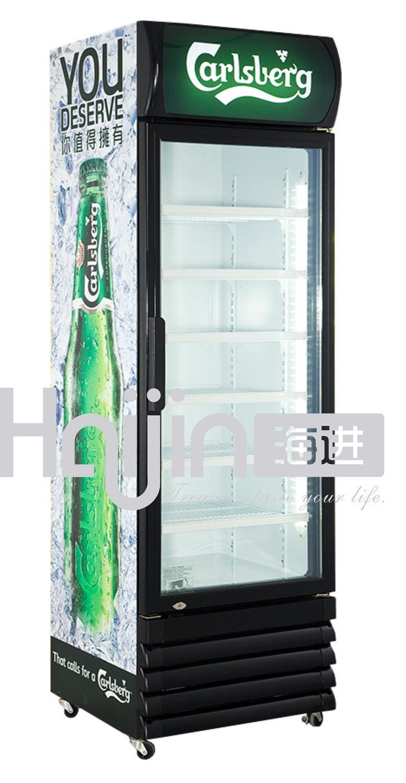 China single door vertical display coolers bottle coolers for 1 door display chiller