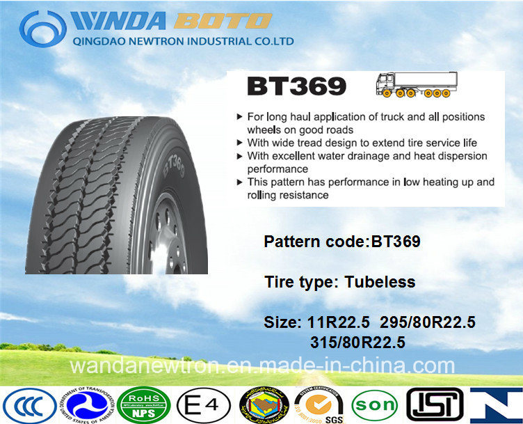 TBR Tire, Truck&Bus Tire, Radial Tire Bt369 11r22.5