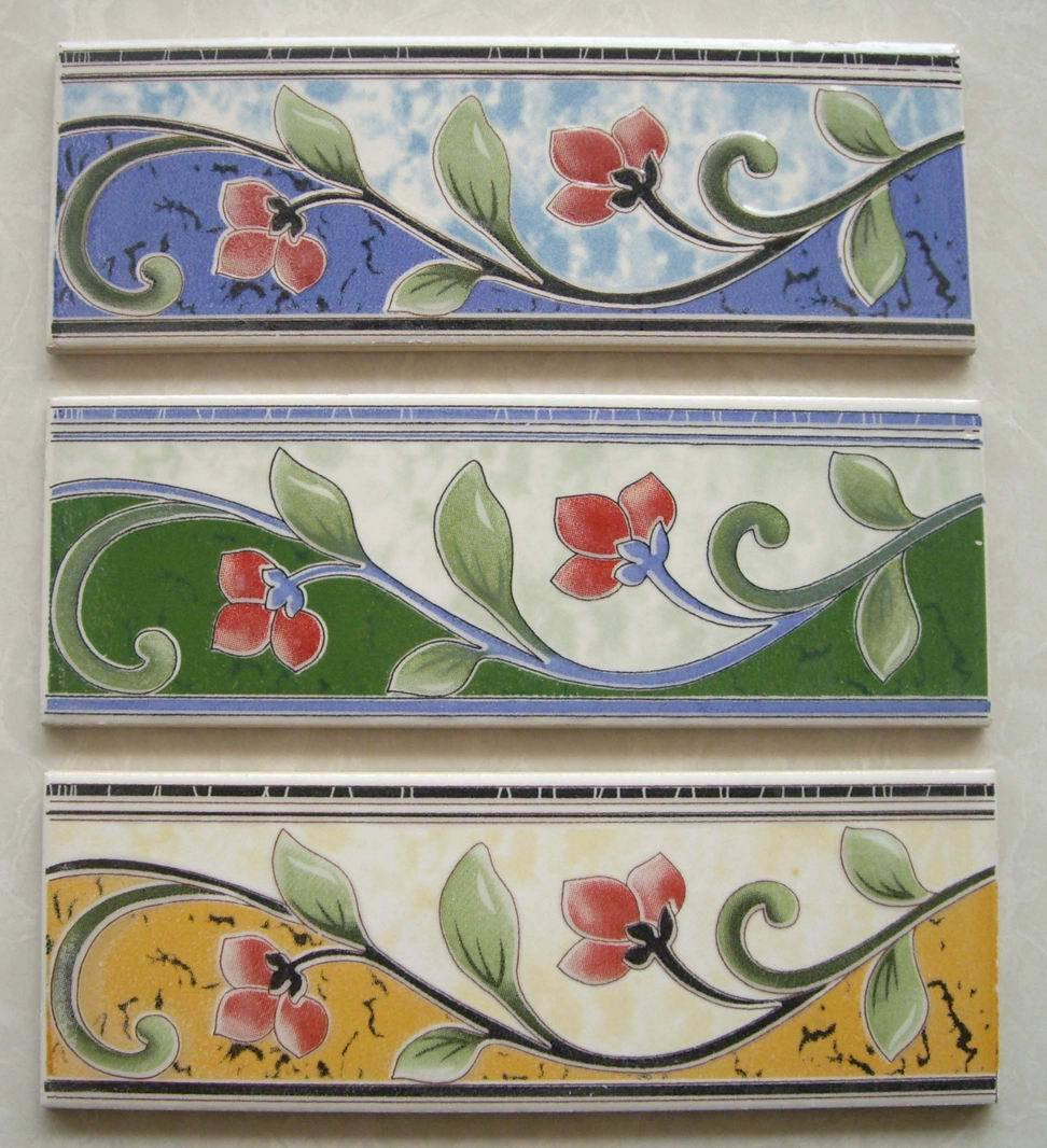 China Ceramic Glazed Border Tile China Border Border Tile