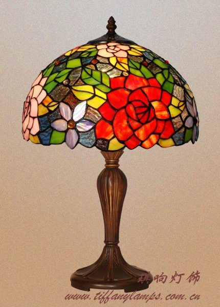 china tiffany double rose table lamp china lamp table lamp. Black Bedroom Furniture Sets. Home Design Ideas