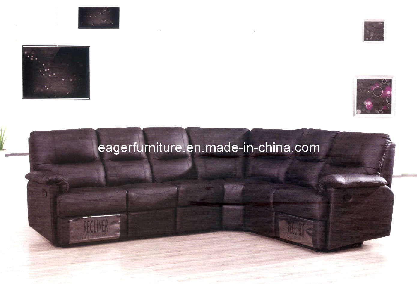 China Sectional Recliner Leather Sofa Es2019 China