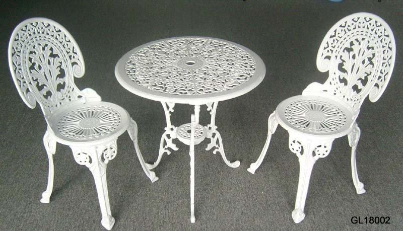 China Cast Iron 3PC Bistro Table And Chair Set GL18002 China Bistro Set