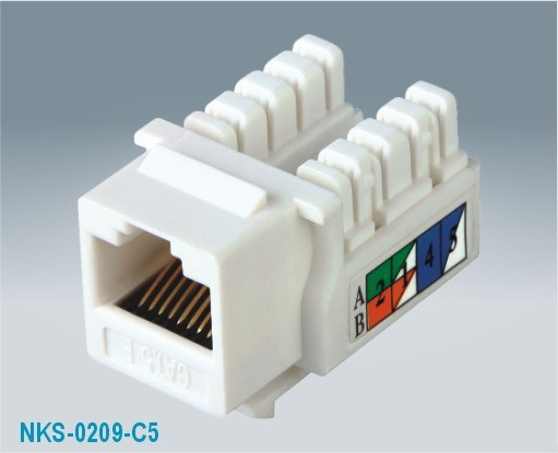 Cat5e UTP 90 Degree RJ45 Keystone Jack (NKS-0209-C5e)