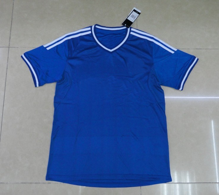 2013 New Arrival Blue Soccer Jersey Thai Quality Football Jersey Breathable Free Shipping