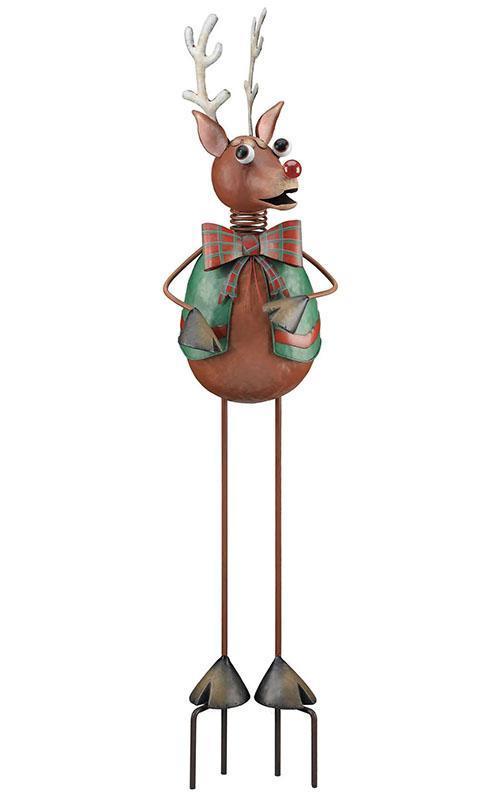 China metal xmas reindeer garden stick christmas