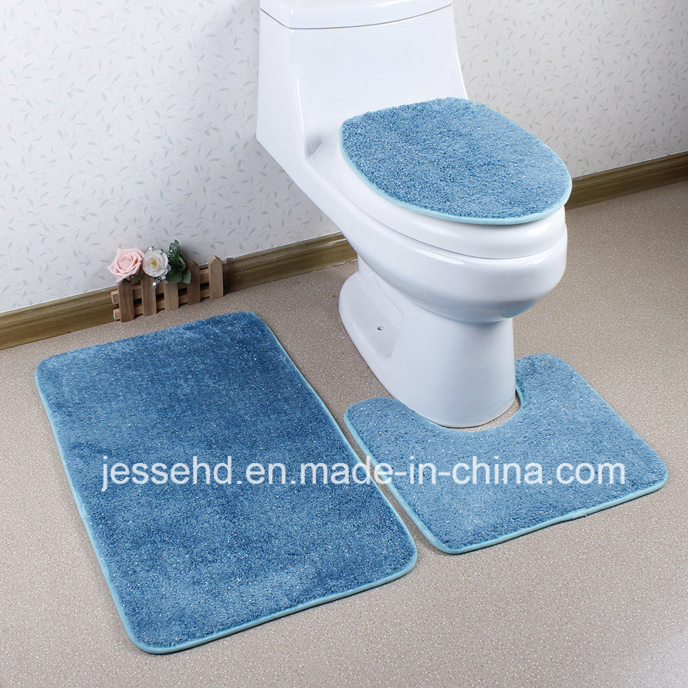 Good Quality Waterproof Home Textile Anti Slip Bathroom Mat Set