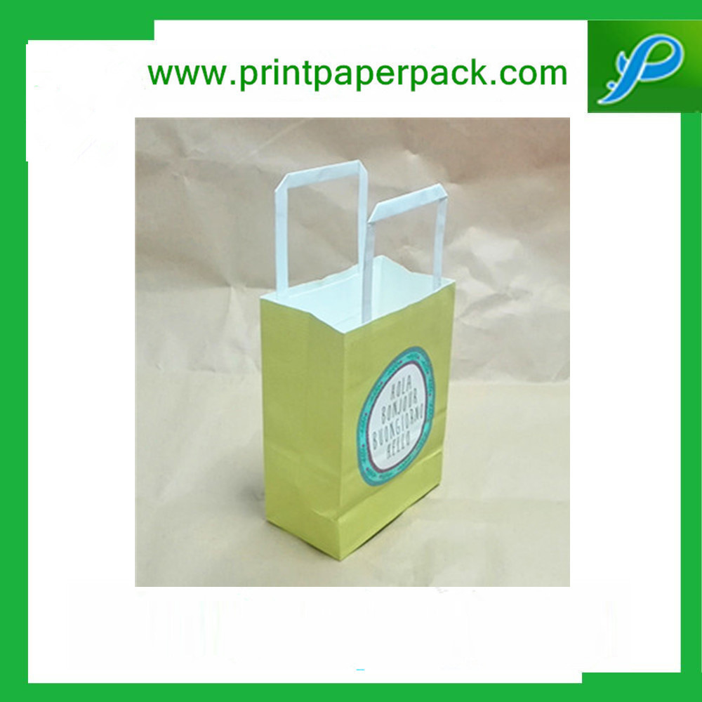 Custom Printed Kraft Paper Shopping Bag with Logo Printing