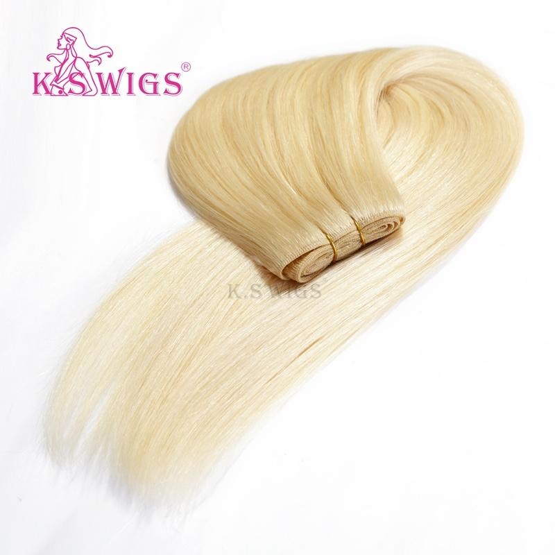 K. S Wigs 7A Grade Human Hair Extension 100% Brazilian Human Hair