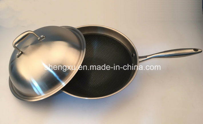 18/10 Stainless Steel Cookware Chinese Wok Cooking (SX-WO32-24)