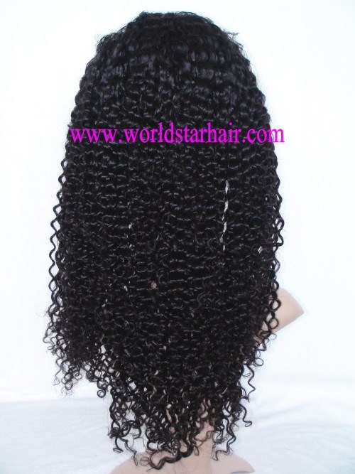100% Afro Jerry Curl Indian Remy Human Hair Lace Front Wig