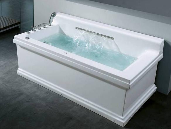 China Rectangular Whirlpool Bathtub With Big Water Fall FT 238B China Mas