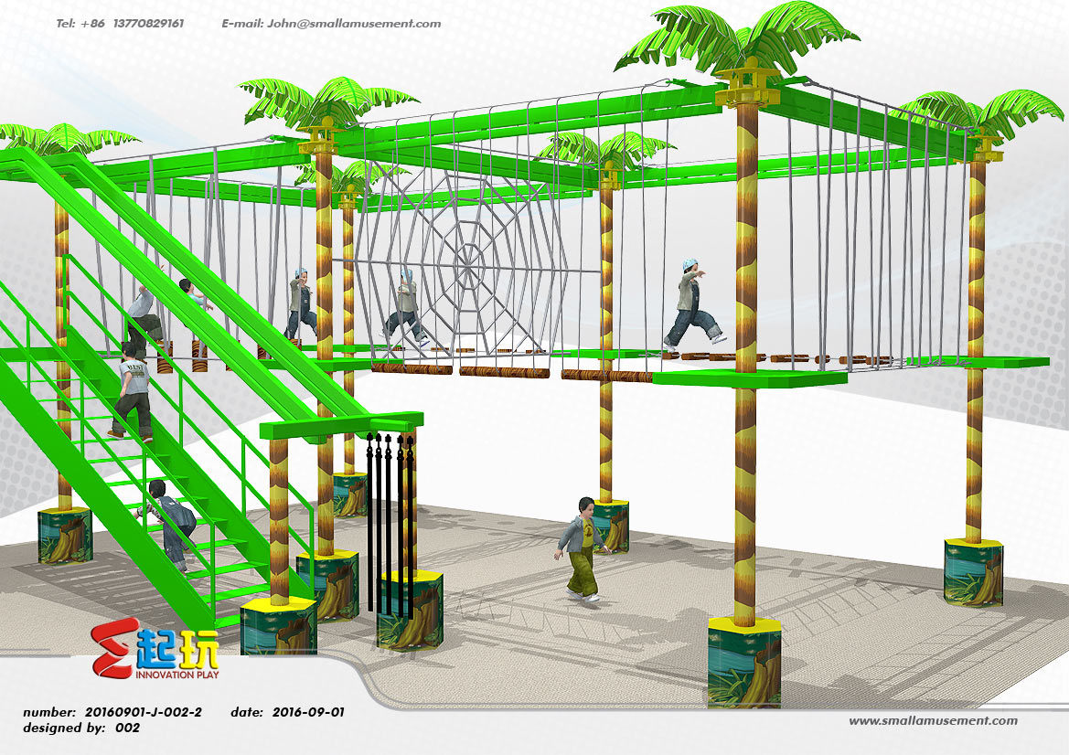 Solid Climbing Frame of Indoor Playground