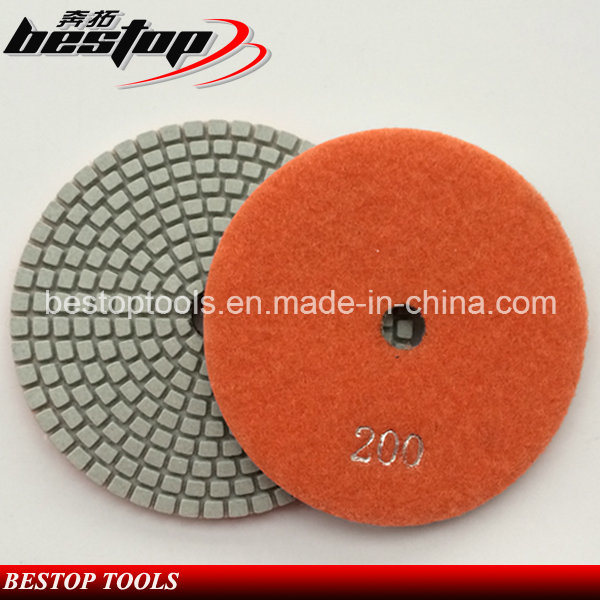 Diamond Flexible Dry Wet Resin Polishing Pad for Granite/Marble/Quartz/Stone