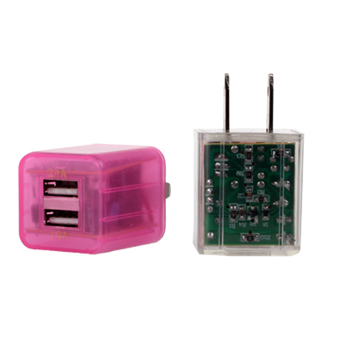 Two USB Mobile Phone Charger Adaptor for Samsung