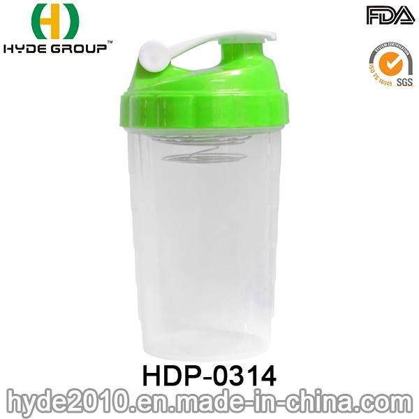 2017 Popular Portable PP Plastic Shake Bottle, BPA Free Plastic Protein Powder Shaker Bottle (HDP-0314)