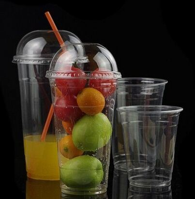 9 Oz 12oz 16oz 20oz 24oz Plastic Pet Disposable Milkshake Ice Cream Juice Yogurt Bubble Milk Tea Cup