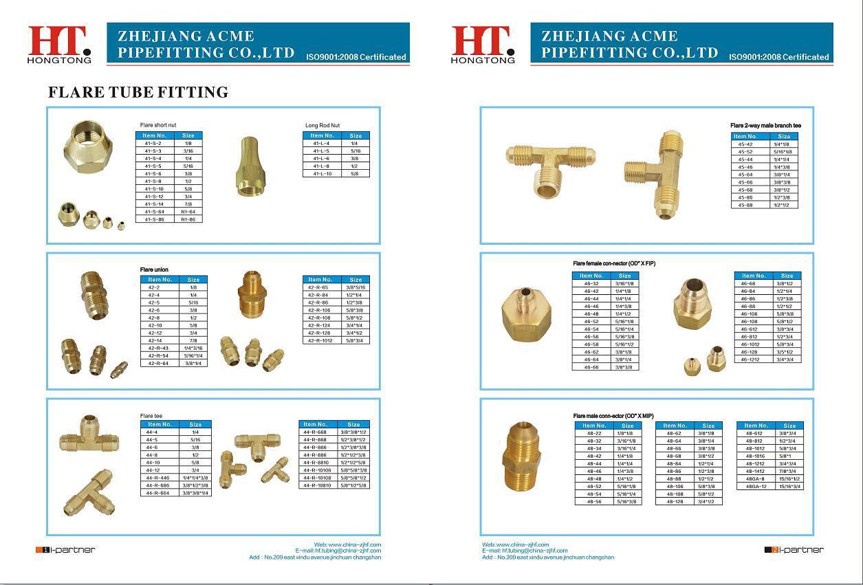 High Quality Long Rod Brass Nut