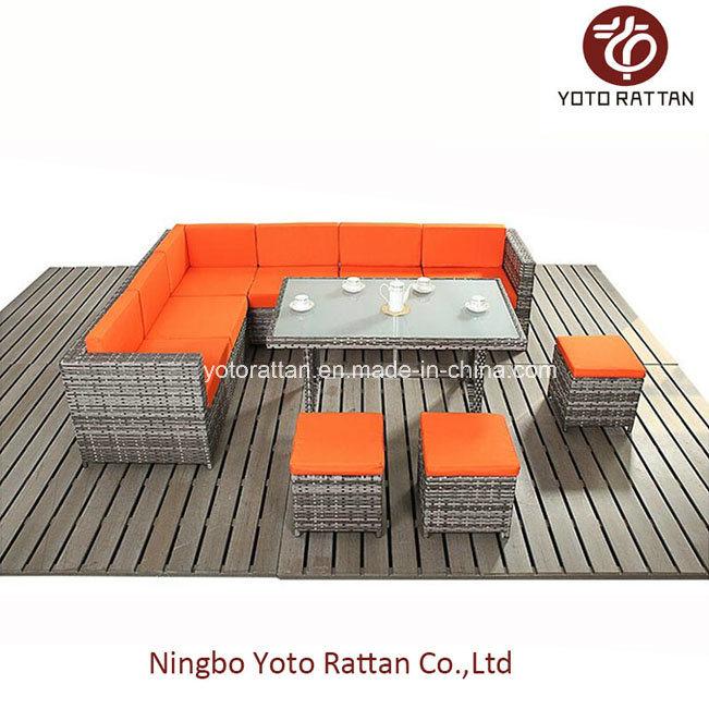 Steel Table Corner Sofa Set 903 Orange