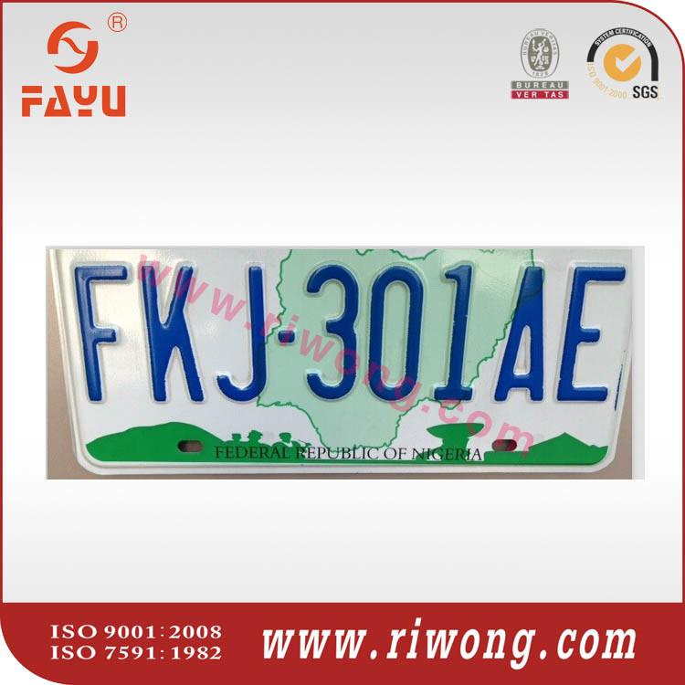 Nigeria Car Number Plate