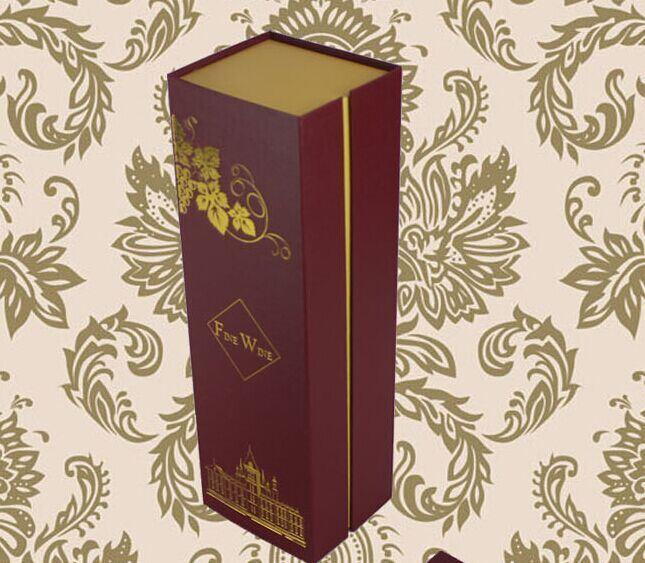 Luxury Cardboard Wardrobe Style Wine Bottle Pack Box, Wholesale Cardboard Wine Boxes, Packaging Boxes