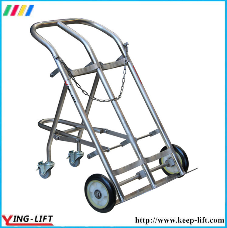Stainless Steel Cylinder Hand Truck with Double Cylinder Ty130b